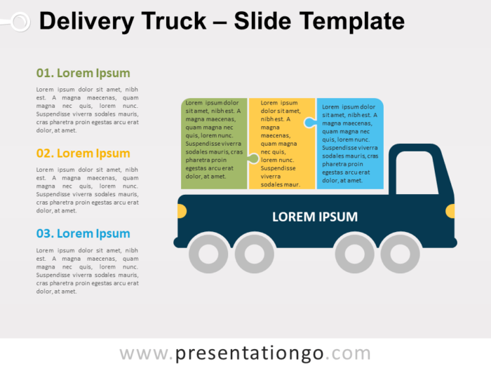 Free Delivery Truck for PowerPoint