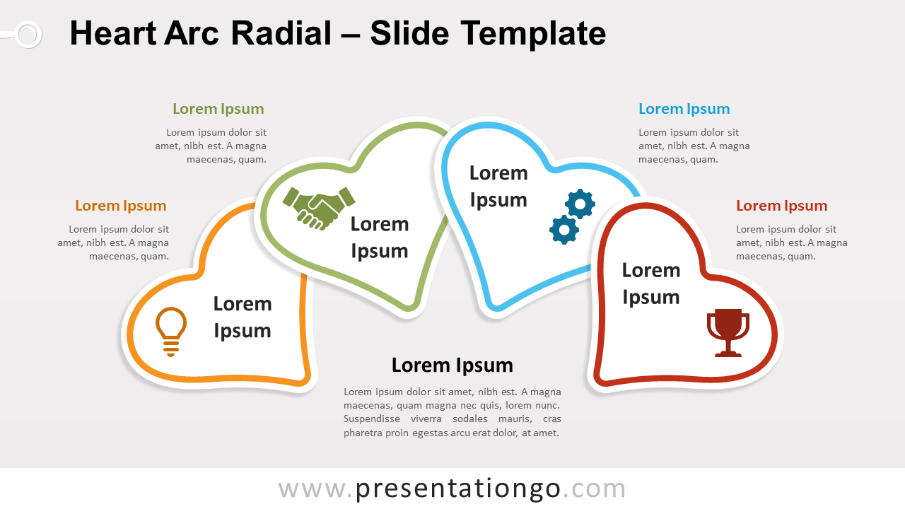 Free Heart Arc Radial for PowerPoint and Google Slides