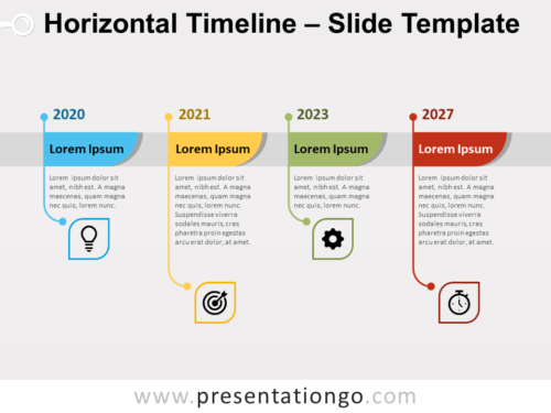 Free Horizontal Timeline Infographic for PowerPoint