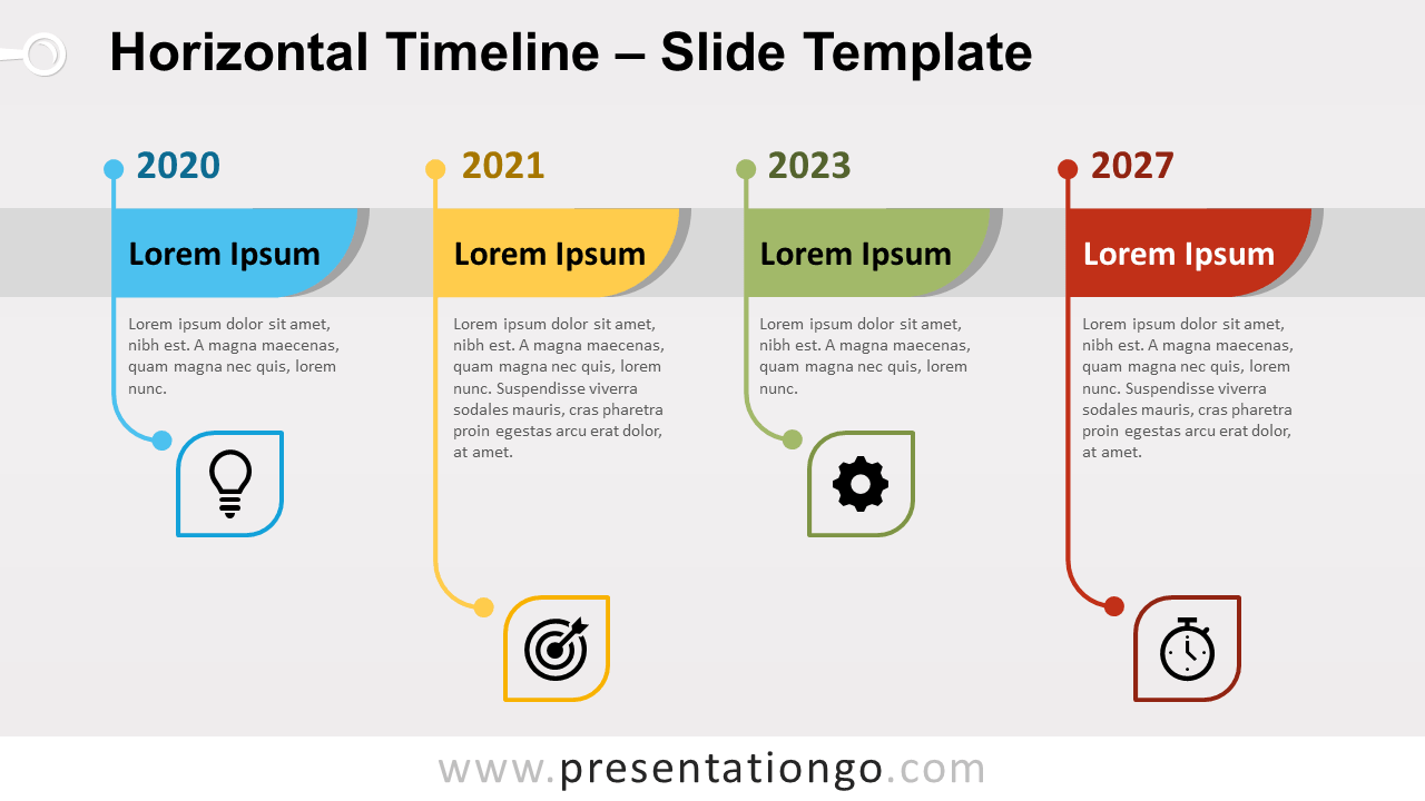 Free Horizontal Timeline Infographic for PowerPoint and Google Slides