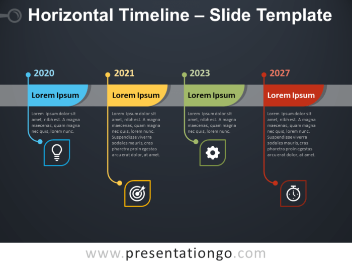 Free Horizontal Timeline Template for PowerPoint