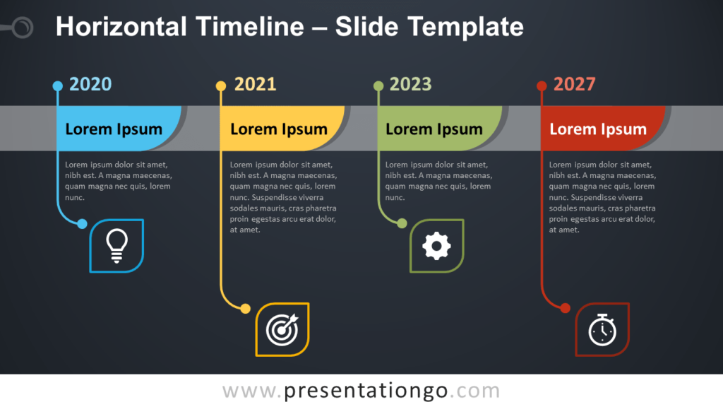 Free Horizontal Timeline Template for PowerPoint and Google Slides