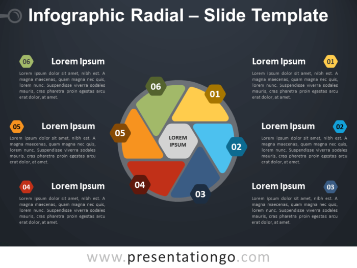 Free Infographic Radial Diagram for PowerPoint