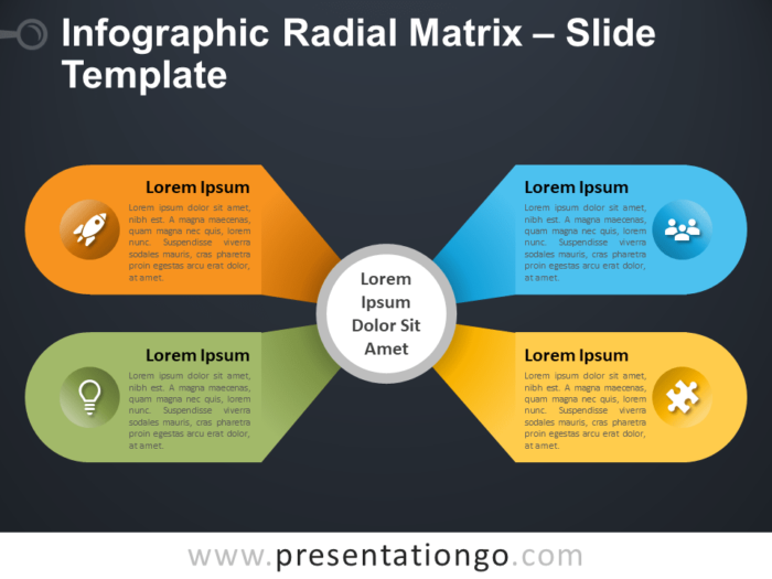 Free Infographic Radial Matrix Template for PowerPoint