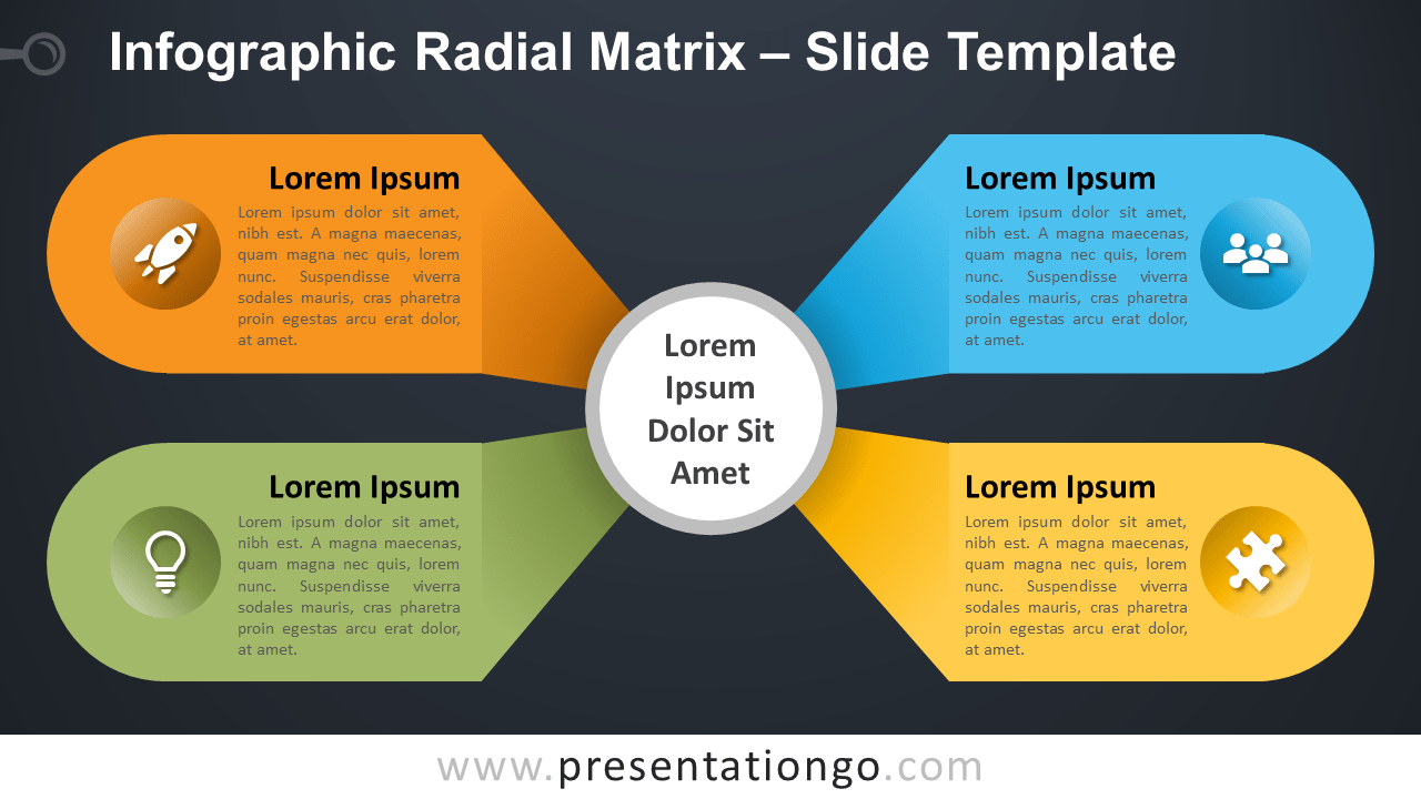 Free Infographic Radial Matrix Template for PowerPoint and Google Slides