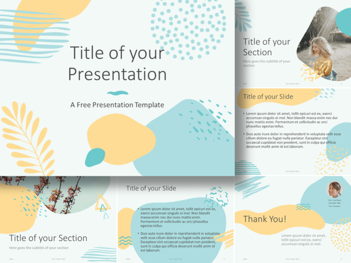 Free MEMPHIS Template for Google Slides and PowerPoint
