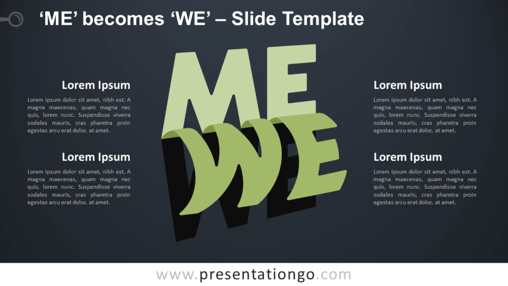 Free Me We Infographic for PowerPoint and Google Slides
