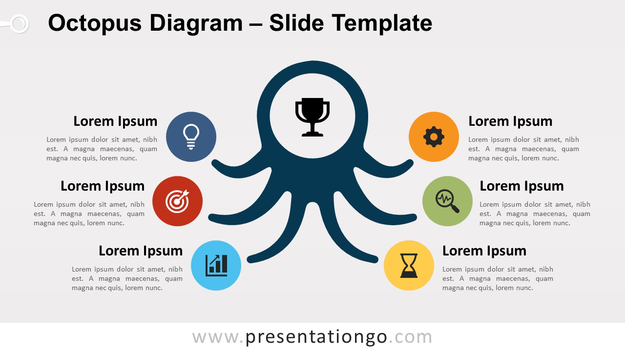 Free Octopus Diagram Infographic for PowerPoint and Google Slides