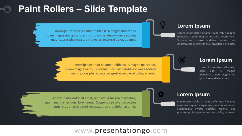 Free Paint Rollers Template for PowerPoint and Google Slides
