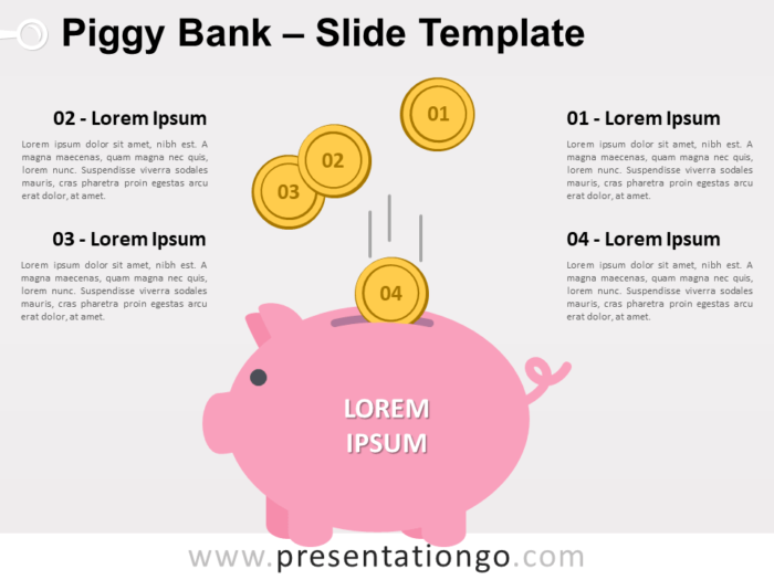 Free Piggy Bank for PowerPoint