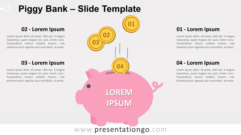 Free Piggy Bank for PowerPoint and Google Slides