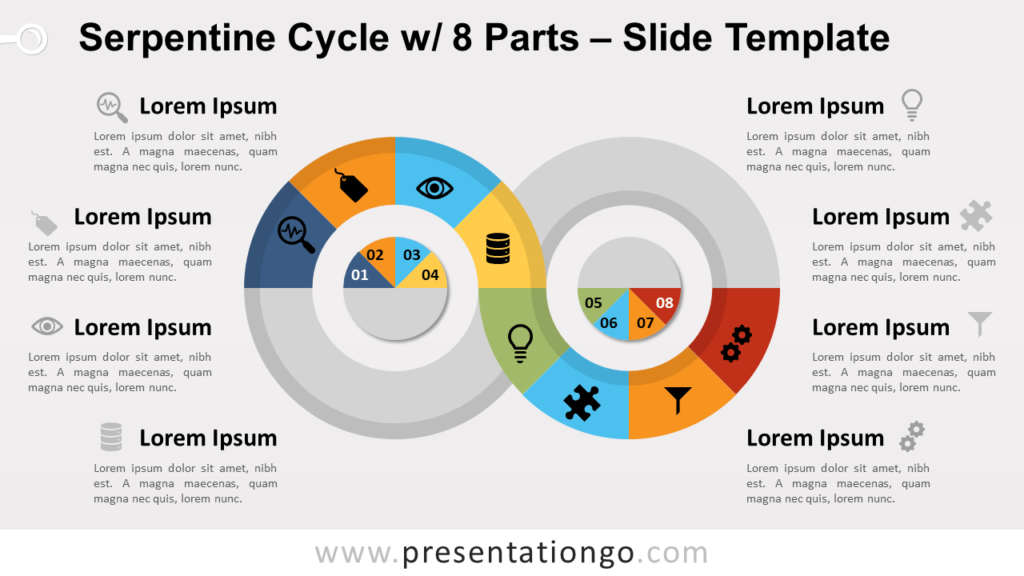 Free Serpentine Cycle with 8 Parts for PowerPoint and Google Slides