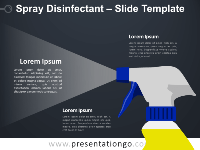 Free Spray Disinfectant Infographic for PowerPoint