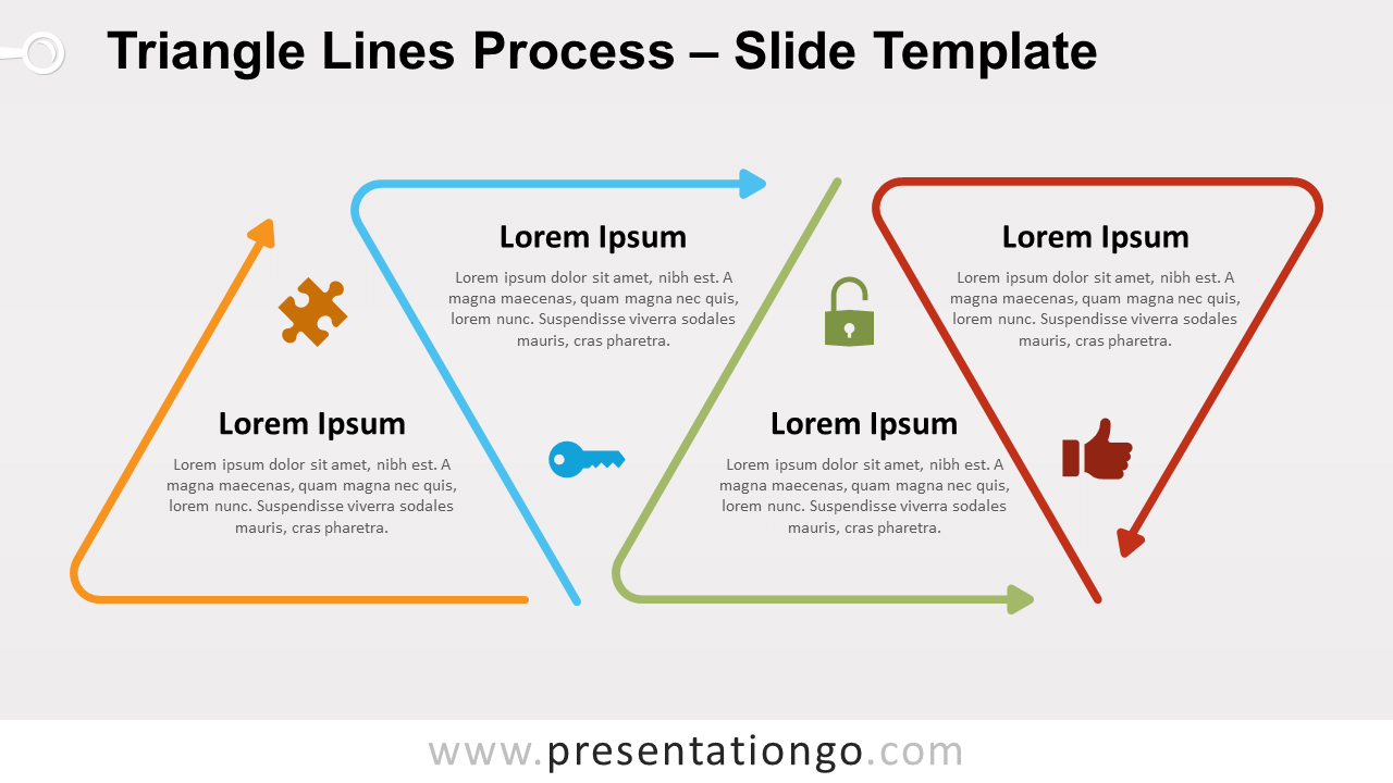 Free Triangle Lines Process for PowerPoint and Google Slides