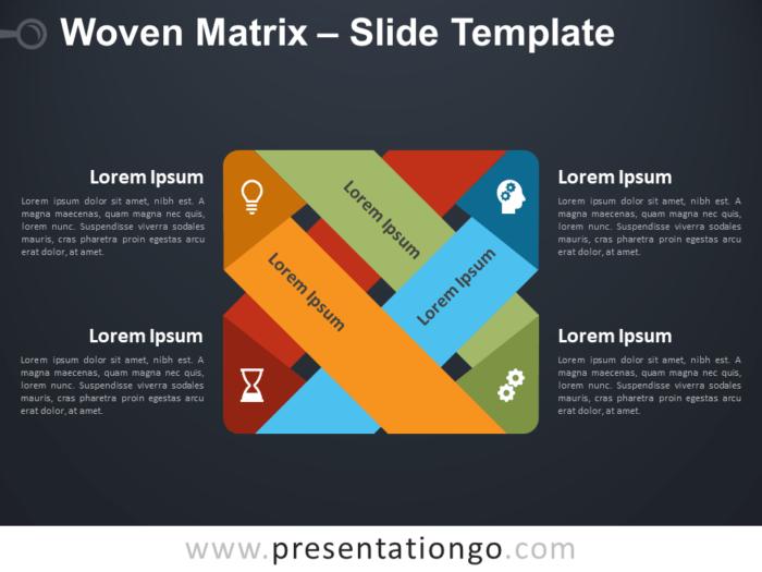 Free Woven Matrix Diagram for PowerPoint