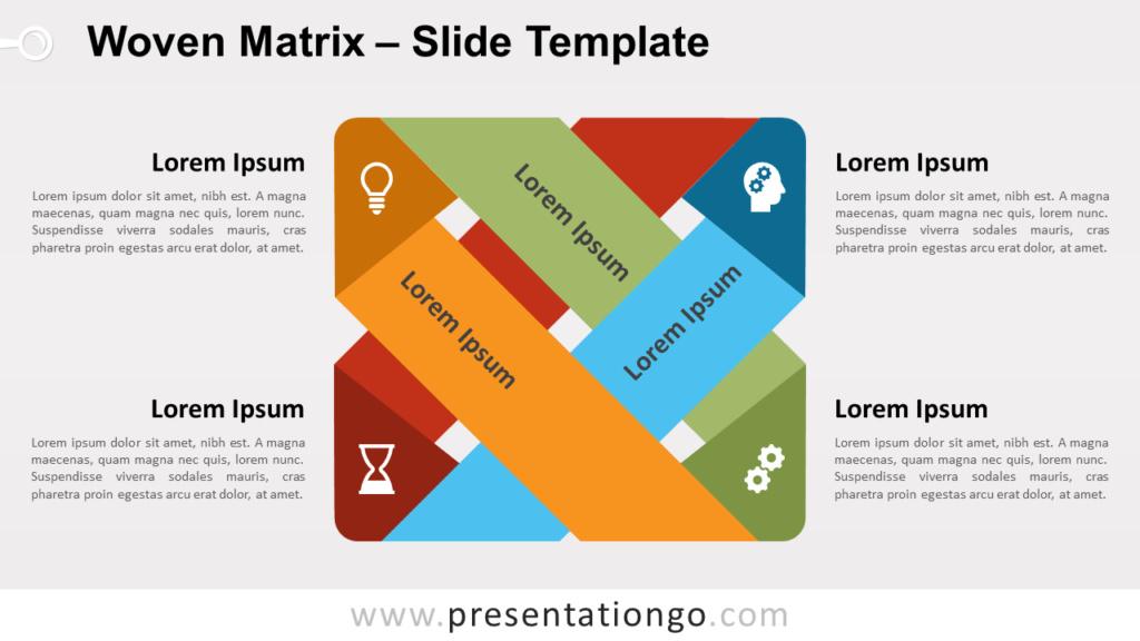 Free Woven Matrix for PowerPoint and Google Slides
