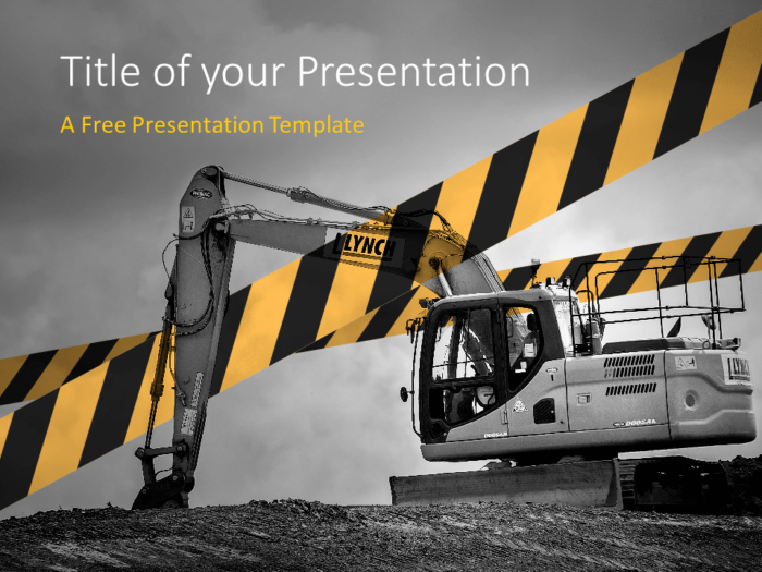 Free Construction Template for PowerPoint - Cover