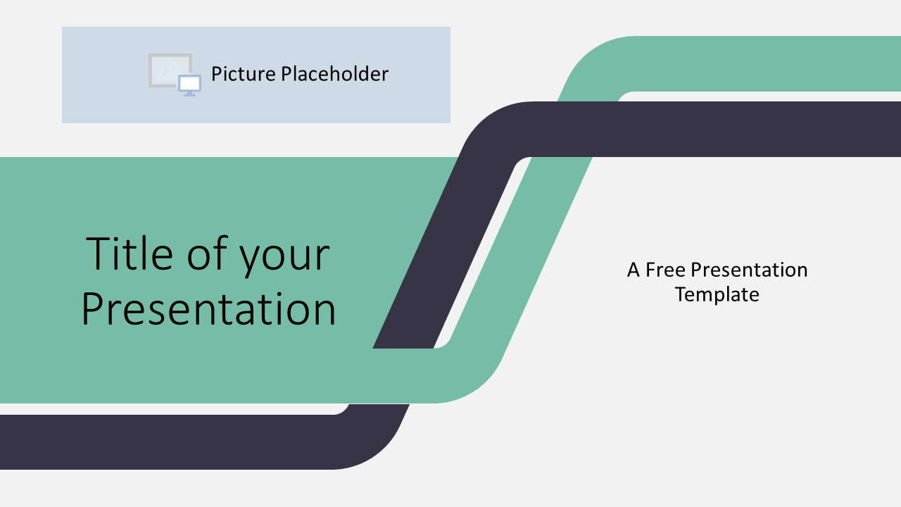 Free Sigmoid Abstract Template for Google Slides - Cover Slide