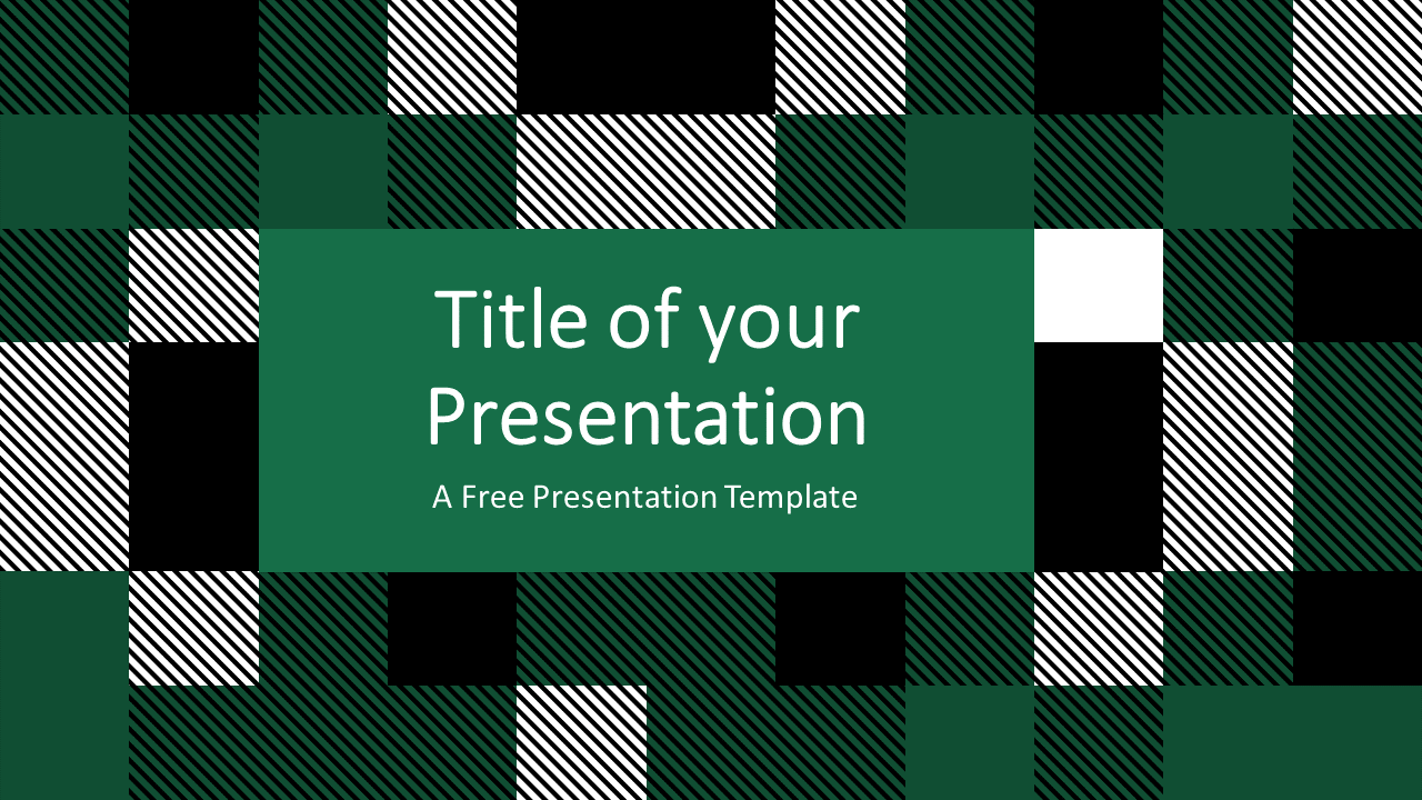 Free TARTAN Abstract Template for Google Slides - Cover