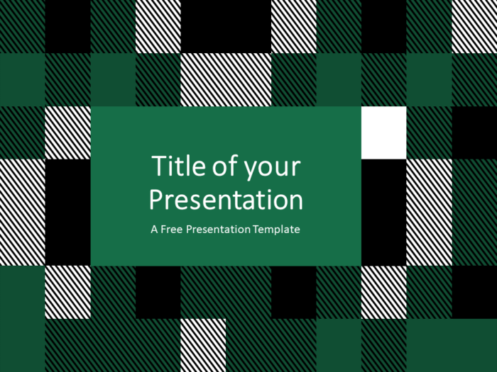Free TARTAN Abstract Template for PowerPoint - Cover