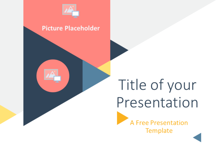 Free Triangle Modern Template for PowerPoint - Cover