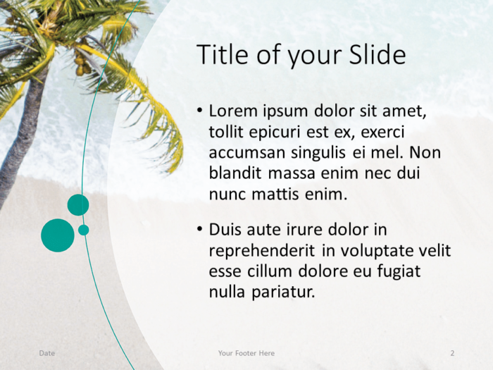Free Beach Template for PowerPoint - Title and Content (variant 1)