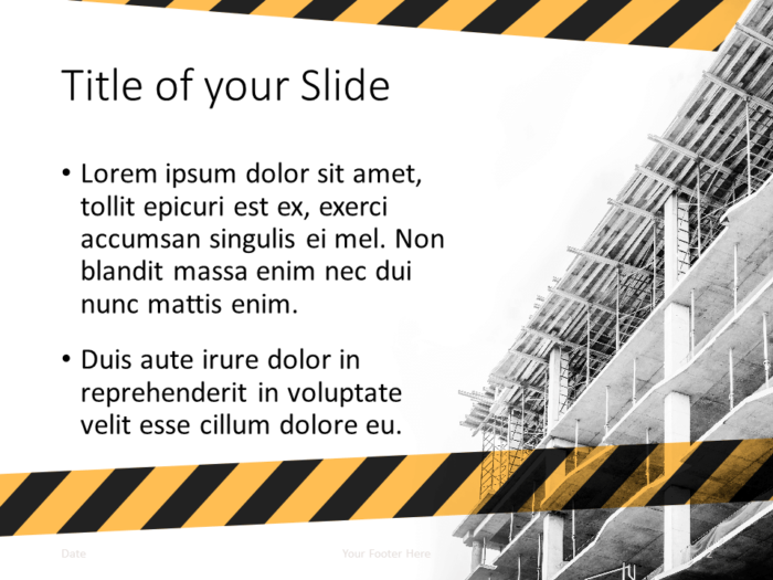 Free Construction Template for PowerPoint - Title and Content (variant 1)