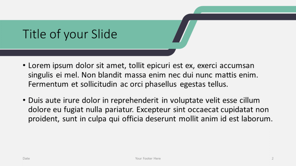 Free Sigmoid Abstract Template for Google Slides - Title and Content (variant 1)