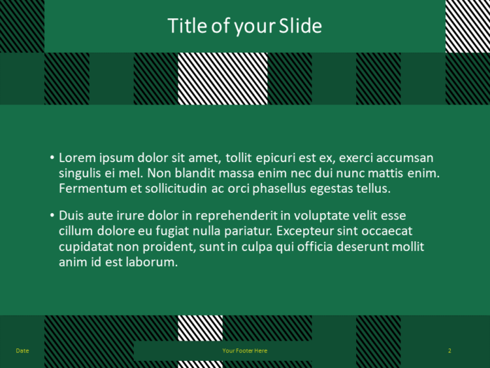 Free TARTAN Abstract Template for PowerPoint - Title Content (variant 1)