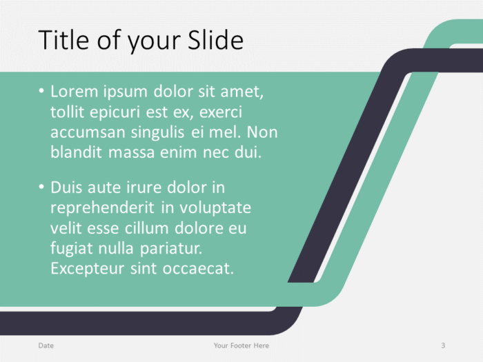 Free Sigmoid Abstract Template for PowerPoint - Title and Content (variant 2)