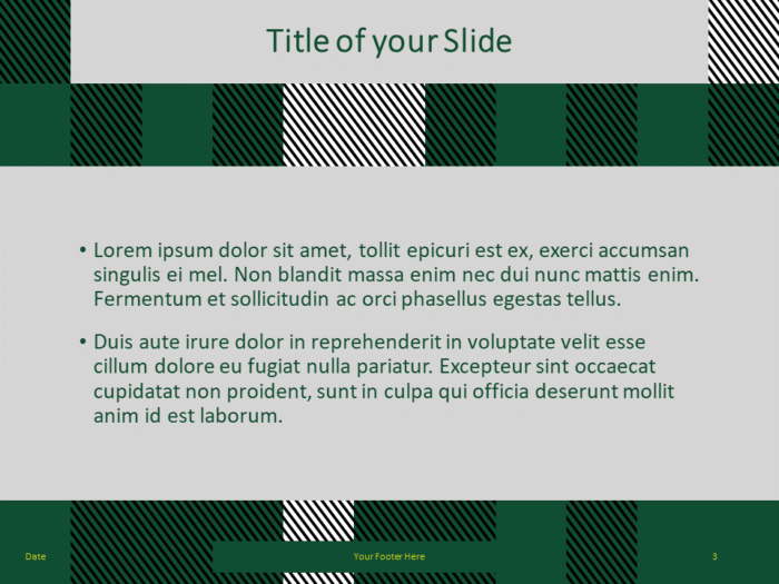 Free TARTAN Abstract Template for PowerPoint - Title Content (variant 2)