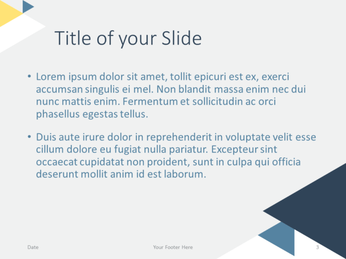 Free Triangle Modern Template for PowerPoint - Title Content (variant 2)