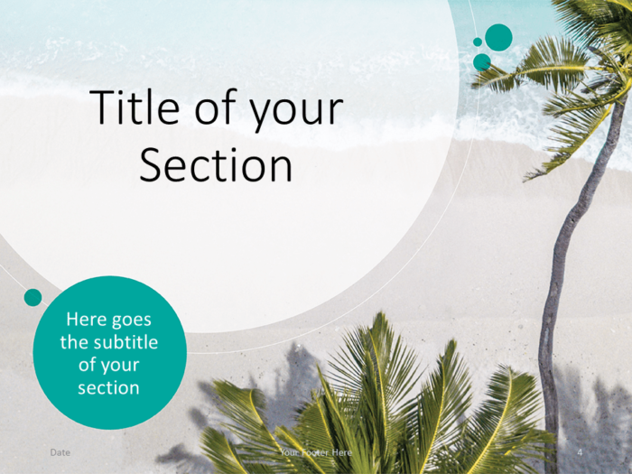 Free Beach Template for PowerPoint - Title Section (variant 1)