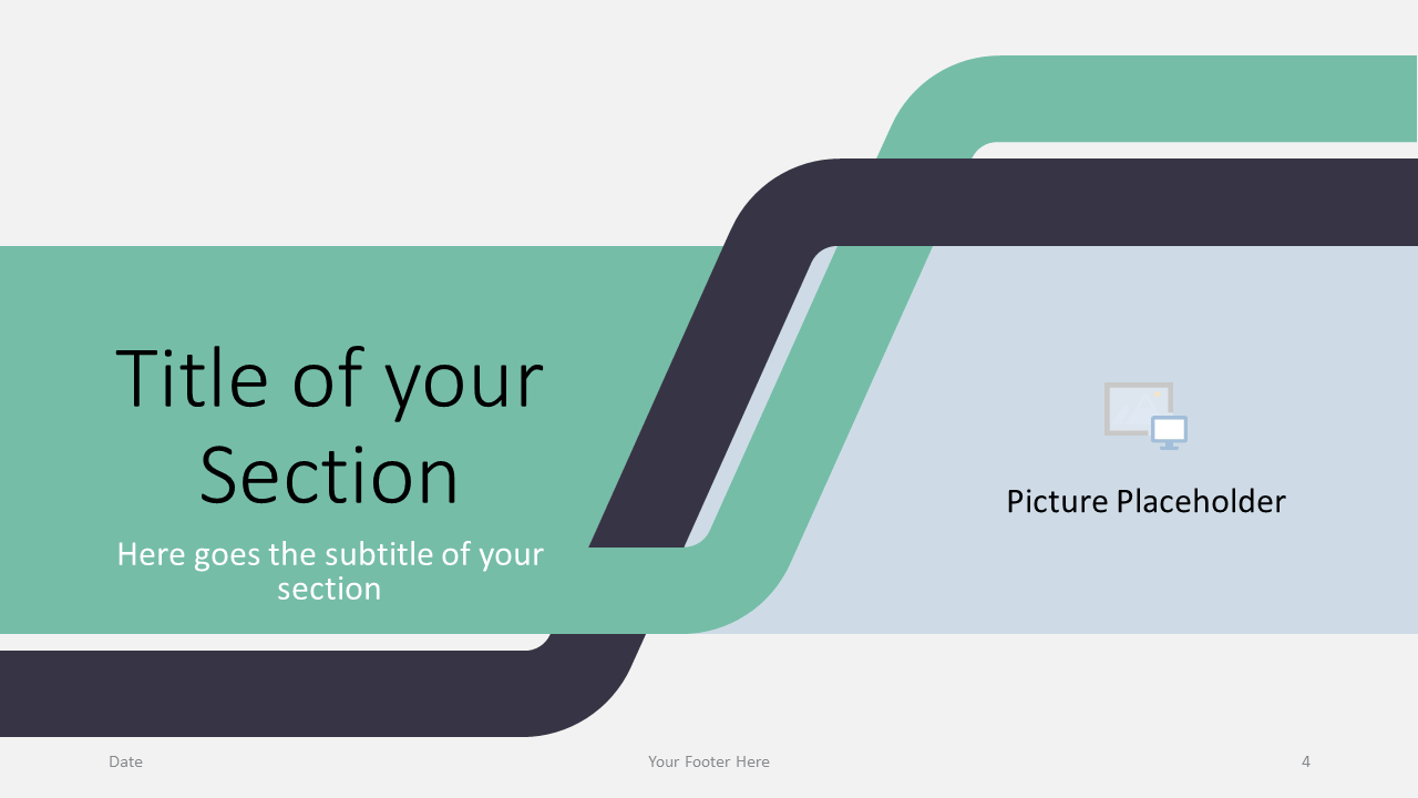 Free Sigmoid Abstract Template for Google Slides - Section Slide (variant 1)