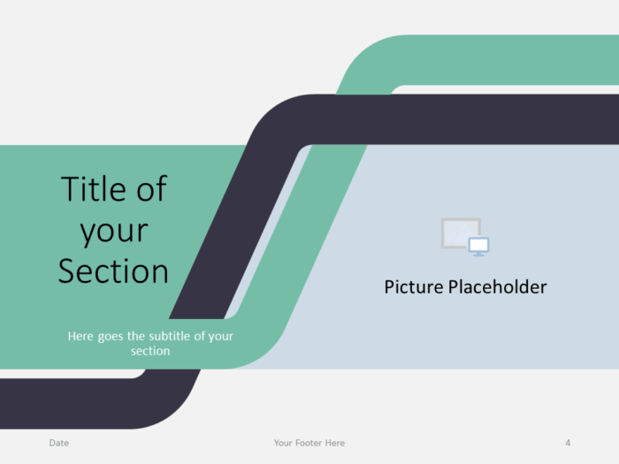 Free Sigmoid Abstract Template for PowerPoint - Section Title (variant 1)
