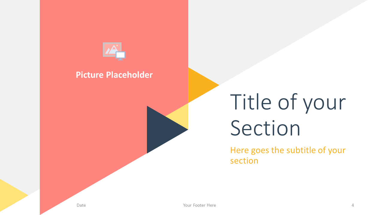 Free Triangle Modern Template for Google Slides - Title Section (variant 1)