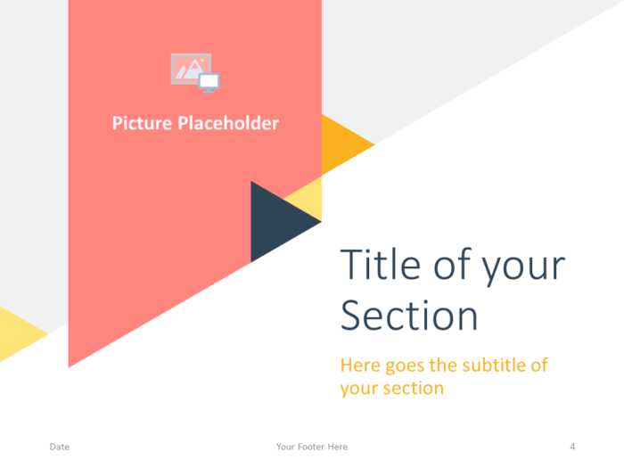 Free Triangle Modern Template for PowerPoint - Title Section (variant 1)