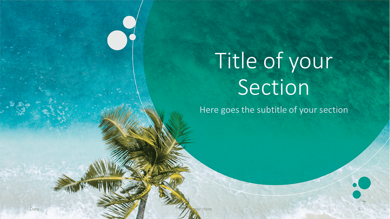 Free Beach Template for Google Slides - Title Section (variant 2)