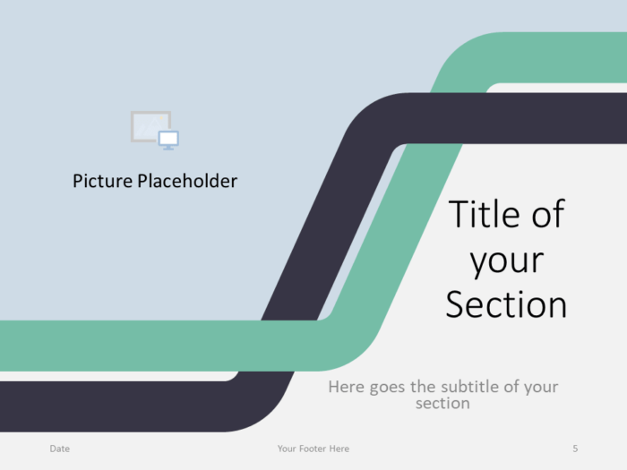 Free Sigmoid Abstract Template for PowerPoint - Section Slide (variant 2)