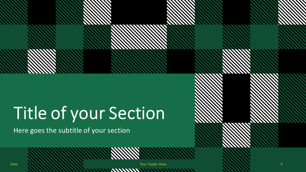 Free TARTAN Abstract Template for Google Slides - Title Section (variant 2)