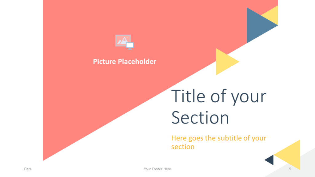 Free Triangle Modern Template for Google Slides - Title Section (variant 2)