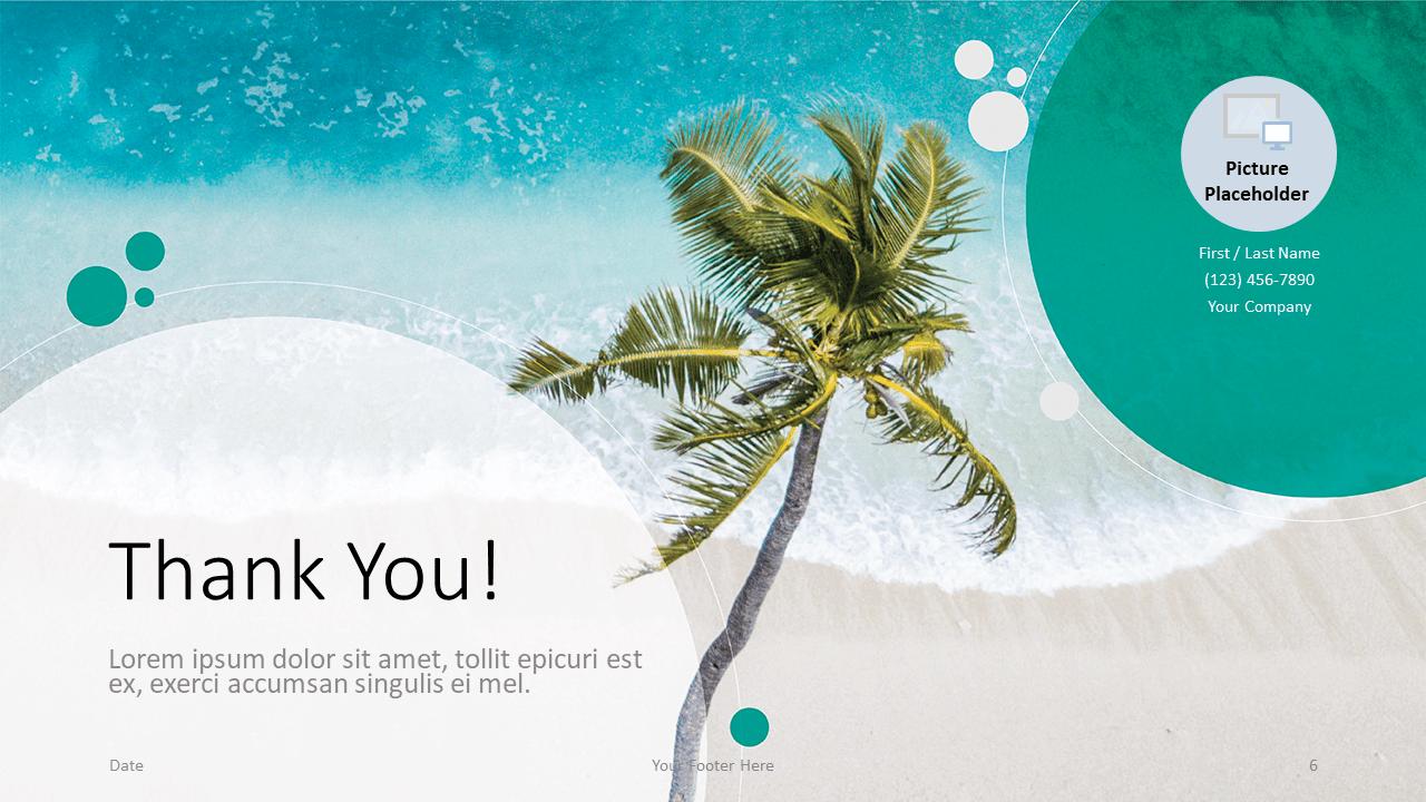 Free Beach Template for Google Slides - Closing