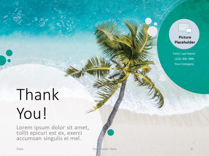 Free Beach Template for PowerPoint - Closing