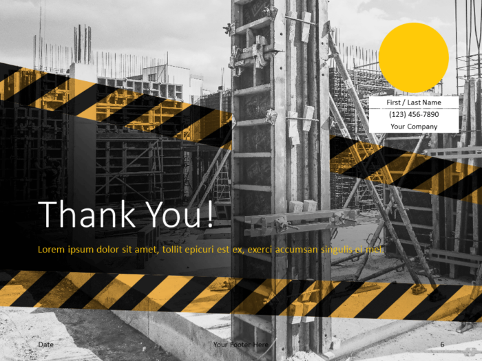 Free Construction Template for PowerPoint - Closing