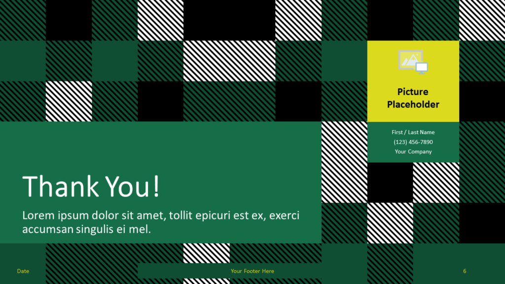 Free TARTAN Abstract Template for Google Slides - Closing