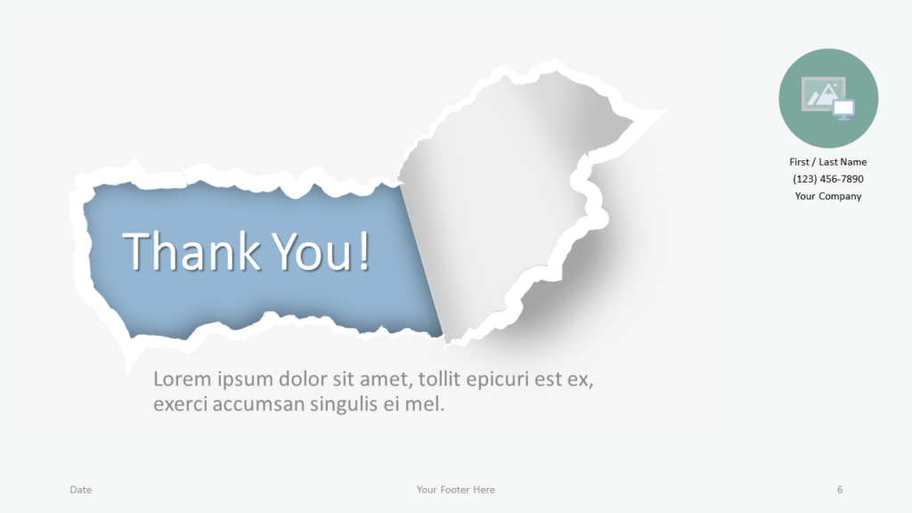 Free Torn Paper Creative Template for Google Slides - Closing