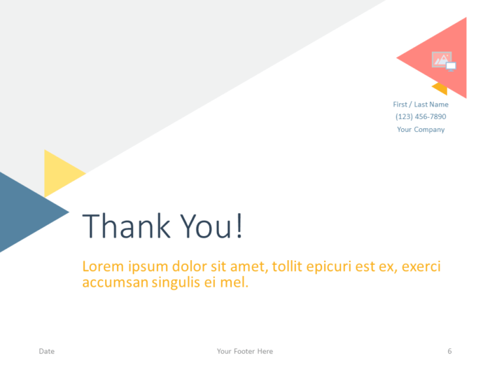 Free Triangle Modern Template for PowerPoint - Closing