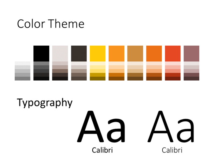 Free Construction Template for PowerPoint - Colors and Fonts