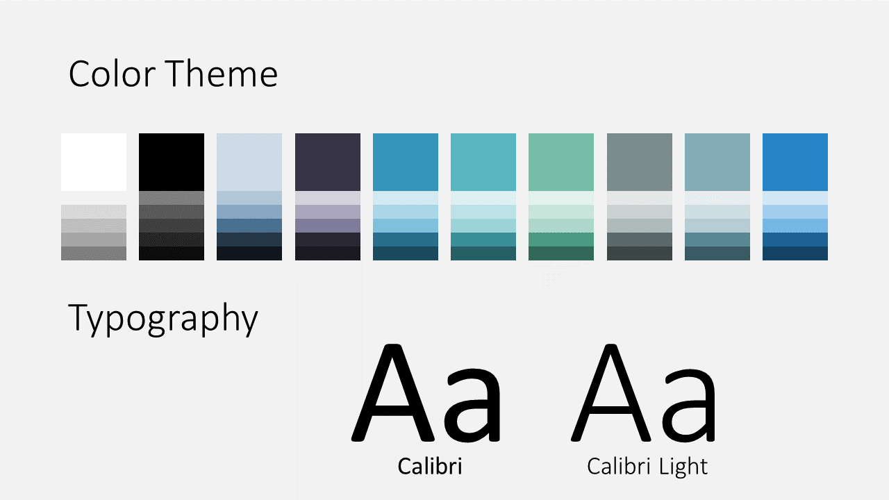 Free Sigmoid Abstract Template for Google Slides - Colors Fonts