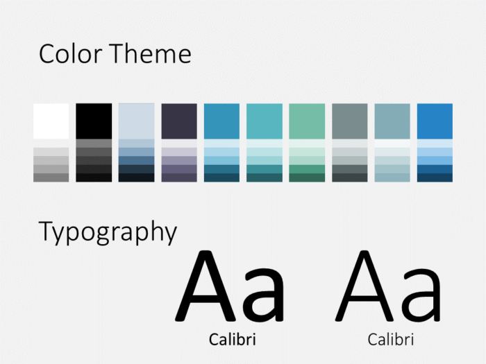 Free Sigmoid Abstract Template for PowerPoint - Colors and Fonts